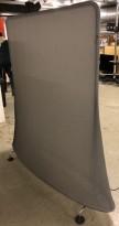 Vitra Mobile Elements Screen, i mørk grå og krom, høyde 162cm, 160cm bredde, pent brukt