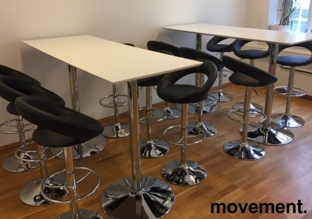 Barkrakk / barstol i sort / krom fra Jysk, modell Horslunde, pent brukt bilde 2