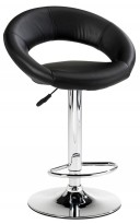 Barkrakk / barstol i sort / krom fra Jysk, modell Horslunde, pent brukt