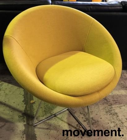 Loungestol i gult stoff / krom, Paris fra Altistore, pent brukt bilde 2