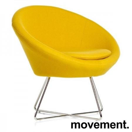 Loungestol i gult stoff / krom, Paris fra Altistore, pent brukt bilde 1