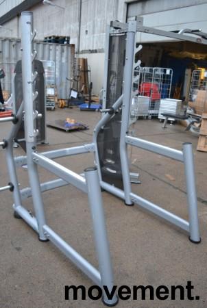 Squatrack / Knebøystativ i grålakkert metall fra Gym80, brukt bilde 1