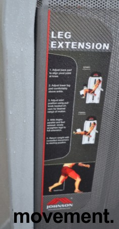 Leg extention-maskin fra Johnson, pent brukt bilde 2
