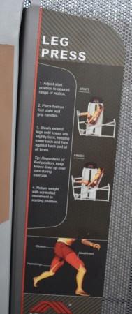 Johnson beinpressmaskin / seated leg press, pent brukt bilde 2