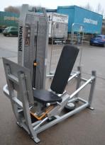Johnson beinpressmaskin / seated leg press, pent brukt