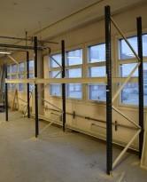 Pallereol fra Høvik Stål, 3-pallers bredder, høyde 300cm, se liste over deler, pent brukt