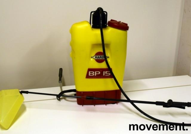 Ryggsprøyte for insektsmiddel etc: Hardi BP15, 15 liters kapasitet, ryggsekksprøyte, pent brukt bilde 1