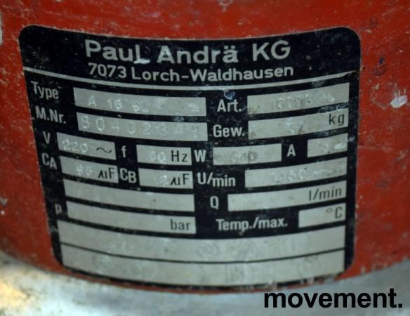 Sorma A16 SL skuremaskin 154 RPM, 15toms pads,  brukt bilde 2