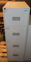 Kasten-Høvik arkivskap for hengemapper, 41,5 cm bredde, 4 skuffer, pent brukt - U/nøkkel