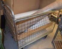 Galvanisert tralle / gittertralle med 4 vegger, 64,5cm bredde,116,5cm lengde, 102cm høyde, brukt
