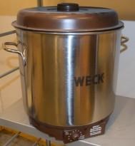 Suppeterrin / kokekjele med termostat fra Weck, Tyskland, Retro-look, pent brukt