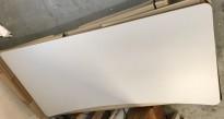 Rektangulær bordplate til skrivebord i lysegrått, innsving/magebue, 180x90cm, NY/UBRUKT