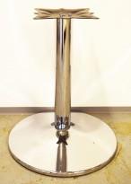 Søyle, understell / søylefot i krom til f.eks. rund bordplate eller møtebord, Base Ø=60cm, H=71cm, pent brukt