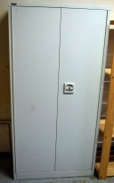 Stålskap med dører, i lysegrått, fra Roneo 183,5cm h, pent brukt