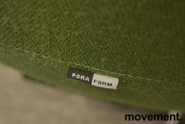 ForaForm Planet Loungestol i mørkt grønt stoff / krom, design: Svein Ivar Dysthe, Norsk klassiker, pent brukt bilde 3