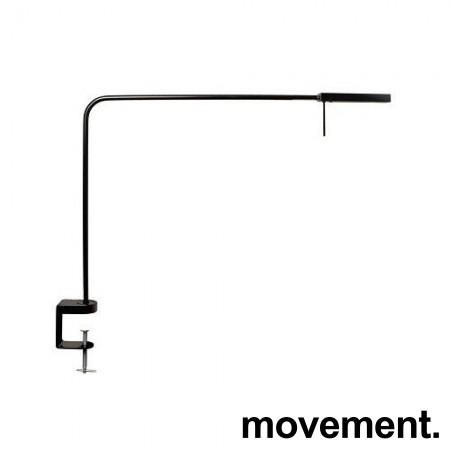 Luxo Ninety i sort med bordfeste, LED-belysning til skrivebordet, lekker designlampe, pent brukt bilde 1