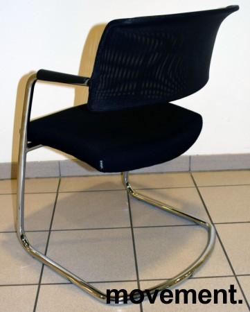 Konferansestol / besøksstol fra Sitland, modell Passe Partout, i sort / mesh / krom, pent brukt bilde 3