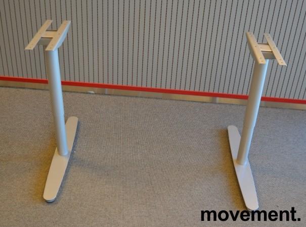 Understell for skrivebord i grålakkert metall fra Edsbyn, passer plater fra 120cm bredde og større, pent brukt bilde 1