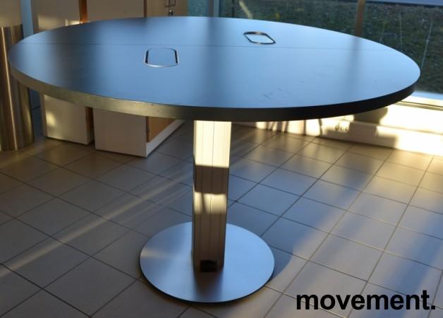 Barbord / ståbord i sort / aluminium fra ForaForm, Ø=160cm, høyde 106cm, pent brukt bilde 2