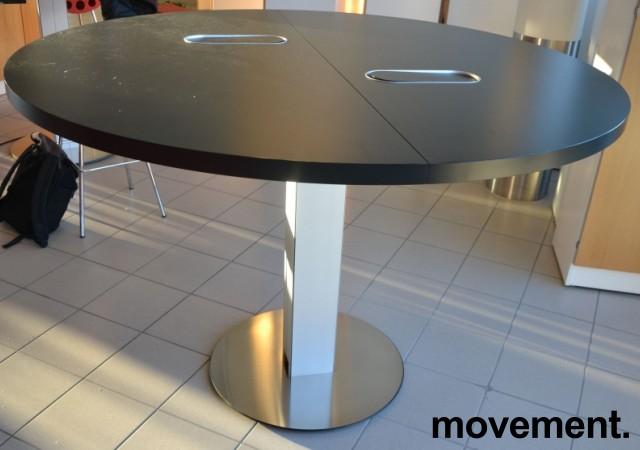 Barbord / ståbord i sort / aluminium fra ForaForm, Ø=160cm, høyde 106cm, pent brukt bilde 1
