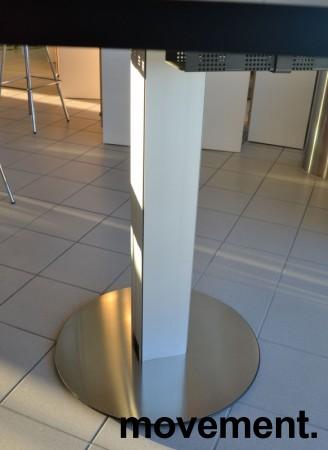 Barbord / ståbord i sort / aluminium fra ForaForm, Ø=160cm, høyde 106cm, pent brukt bilde 3