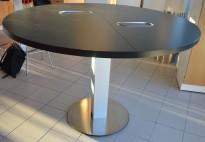 Barbord / ståbord i sort / aluminium fra ForaForm, Ø=160cm, høyde 106cm, pent brukt