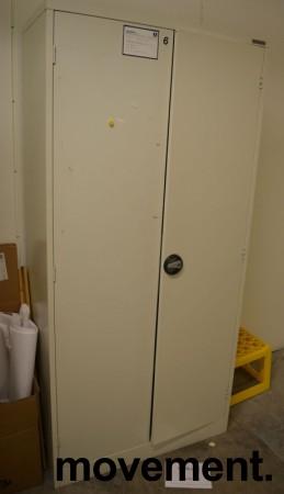 Stålskap med dører, i lysegrått, fra Constructa 191cm høyde, 91cm bredde, pent brukt bilde 1