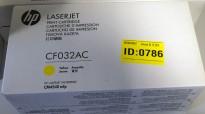 HP Original toner CF032AC contract whitebox (CF032A), Gul/Yellow, NY/UBRUKT
