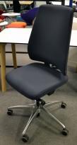 Drabert Salida kontorstol i mørk blå, høy rygg, pent brukt