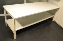 Solid arbeidsbord / arbeidsbenk, 200x80cm bordplate, metall understell, justerbar høyde, bruksslitasje plate