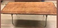 Klappbord med treplate, og innfellbart metallunderstell, 185x78cm bordplate, brukt med kosmetisk slitasje