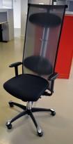 Håg H09 Inspiration 9230 i sort / mesh, eksklusiv kontorstol, pent brukt
