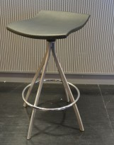 Mobles 114 Gimlet Stool by Jorge Pensi, barkrakk i antrasittgrått, sittehøyde 63cm, pent brukt