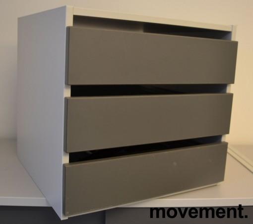 Liten skuffseksjon for plassering i skap eller på skrivebord fra Aarsland, 3skuffer, 40x39x37,4cm, pent brukt bilde 1