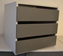 Liten skuffseksjon for plassering i skap eller på skrivebord fra Aarsland, 3skuffer, 40x39x37,4cm, pent brukt