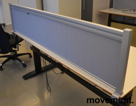 Bordskillevegg i lyst grått stoff, 173x40cm, pent brukt bilde 2