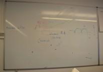 Vegghengt whiteboard 180x120cm, pent brukt