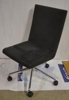 EFG Woods Konferansestol / møteromsstol i grå mikrofiber på hjul, base i krom, brukt