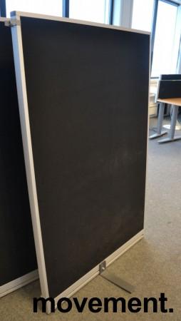 Skillevegg fra Kinnarps, modell Rezon i sort, 100cm bredde, 150cm høyde, pent brukt bilde 1