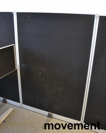 Skillevegg fra Kinnarps, modell Rezon i sort, 100cm bredde, 150cm høyde, pent brukt bilde 3