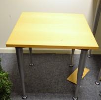 Kinnarps E-serie loungebord i bøk, 60x60 cm, 62cm høyde, pent brukt