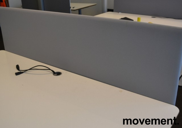 Bordskillevegg i lyst grått stoff, 172x60cm, pent brukt bilde 2