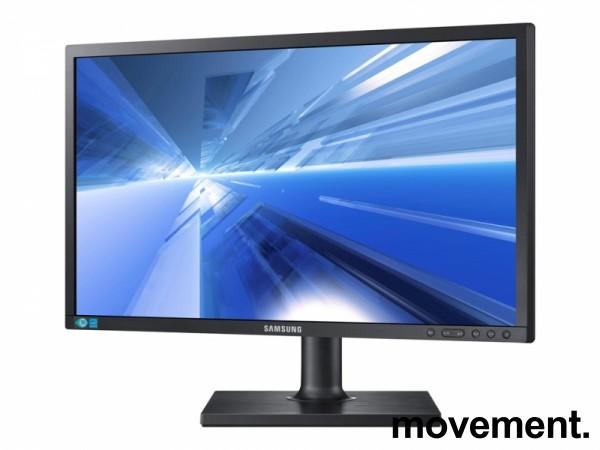 Flatskjerm til PC: Samsung S24E650, LED Full HD 1920x1080, VGA/DVI, pent brukt
