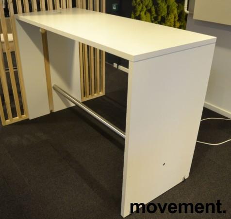 Ståbord / barbord i hvitt / krom fra Brødrene Andersen / Zeta DK, 160x65x108cm, pent brukt bilde 1