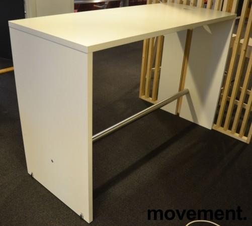 Ståbord / barbord i hvitt / krom fra Brødrene Andersen / Zeta DK, 160x65x108cm, pent brukt bilde 2