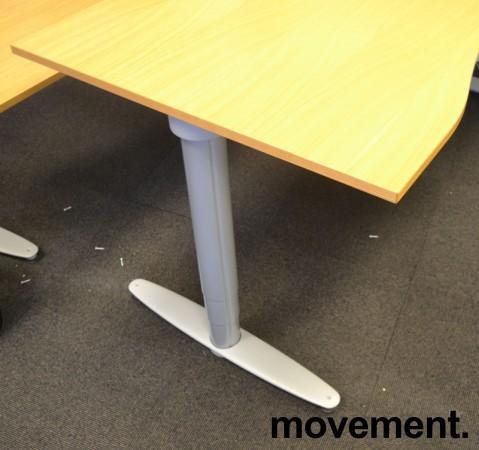 Kinnarps T-serie elektrisk hevsenk skrivebord 180x90cm i eik, mavebue, pent brukt bilde 3
