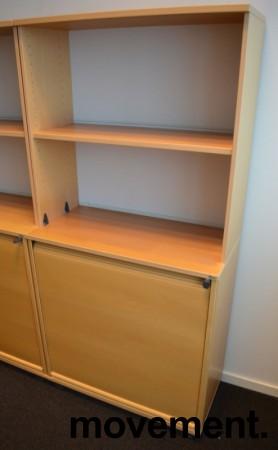 Kinnarps E-serie sjalusiskap i bøk, 4 høyder, bredde 80cm, høyde 164cm, pent brukt bilde 1