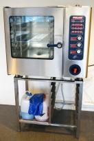 Kombidamper/konveksjonsovn, Palux GXB 6-11 med stativ, 6xGN, 400Volt 11kWa, pent brukt 2005-modell