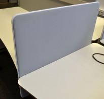Bordskillevegg fra Götessons i lyst grått stoff med hvit glidelås, 80x65cm, pent brukt