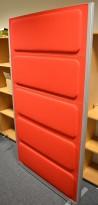 Kinnarps Rezon skillevegg / akustikkpanel, 180cm høyde i rødt, 100cm bredde, pent brukte